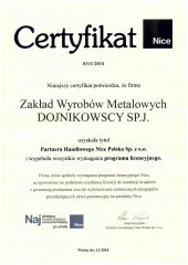 certyfikat nice