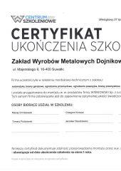 certyfikat wiśniowski
