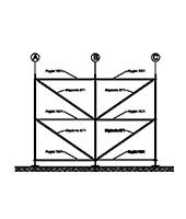 Konstruktion - 6,0x4,0m - Variant B - förankrad på stiftar