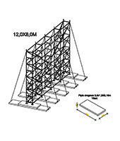Construction - 12.0x8.0m - set on ballasts